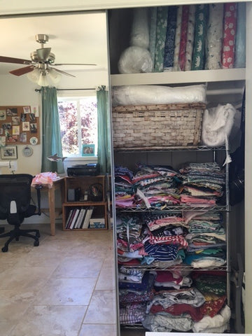 fabric stash organization