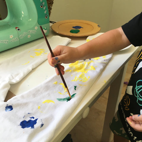 fabric painting with kids