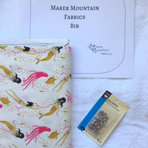 Maker Mountain Fabrics Bib Pattern and Bib Kits