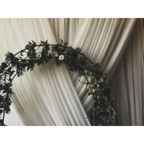 10'x 34' Off White Voile Drape