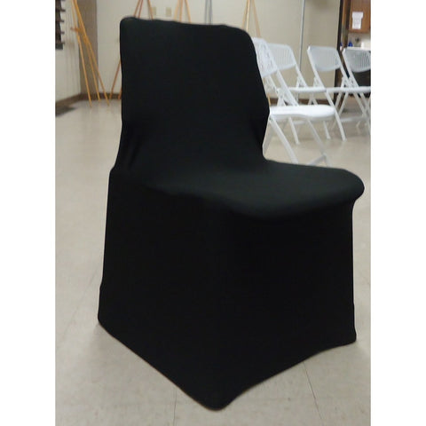 Black Lycra Sleigh Chair Cover
