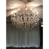 Ceiling Drape and Chandelier Package