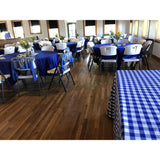 "90""x 156"" Blue/White Checked Banquet"