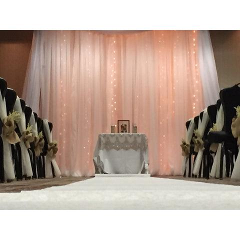 20' x 12' Peach Sequin Backdrop