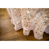"120"" Round Blush/Champagne Enchanted Sheer Overlay"
