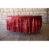 "96"" Round Red Pailete Sequin"