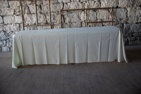 "90""x 156"" Off White Classic Solid Polyester"
