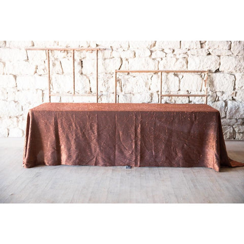 "90""x 156' Copper/Black Iridescent Crush Tablecloth"