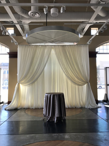 10'x 14' Off White Sheer Drape