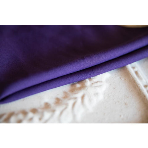 Purple Solid Polyester Napkin