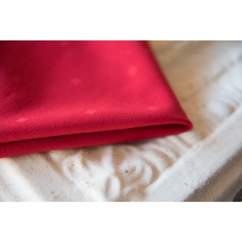 Red Damask Polyester Napkin