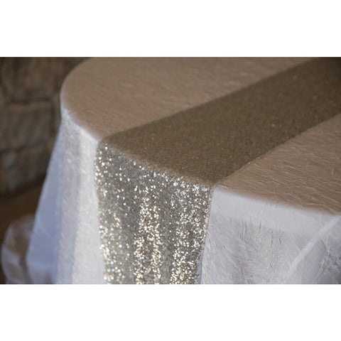 Silver Sequin Runner