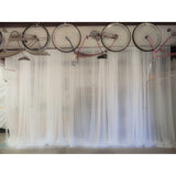 10'x 14' White Voile Sheer Drape