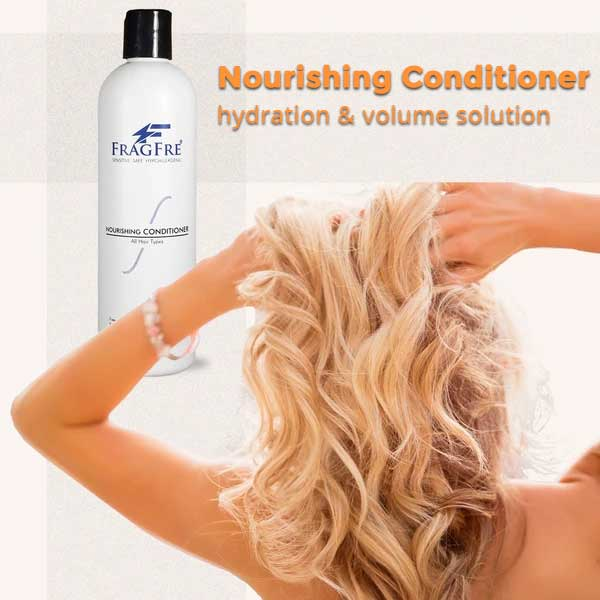Female Nourishing hair with FRAGFRE Hair Conditioner