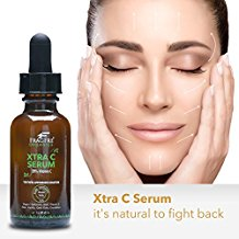 FRAGFRE Organic Vitamin C Serum 20% 1 oz - with Vegan Hyaluronic Acid, Vitamin E, Organic Aloe and Jojoba - Anti Aging Vitamin C Facial Serum