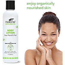 FRAGFRE Organic Body Lotion 8 oz - Parabens Free Organically Preserved Lotion - Organic Vegan Moisturizer for Whole Body - Cruelty Free
