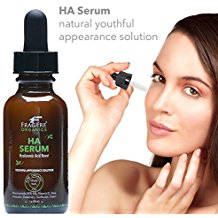 FRAGFRE Organic Hyaluronic Acid Serum with 5% Niacinamide 1 oz - Vitamin B-3 + E, Avocado, Organic Aloe - Anti Wrinkle Anti Aging HA Serum