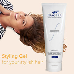 FRAGFRE Sensitive Hair Styling Gel 8 oz - Fragrance Free Hair Styling