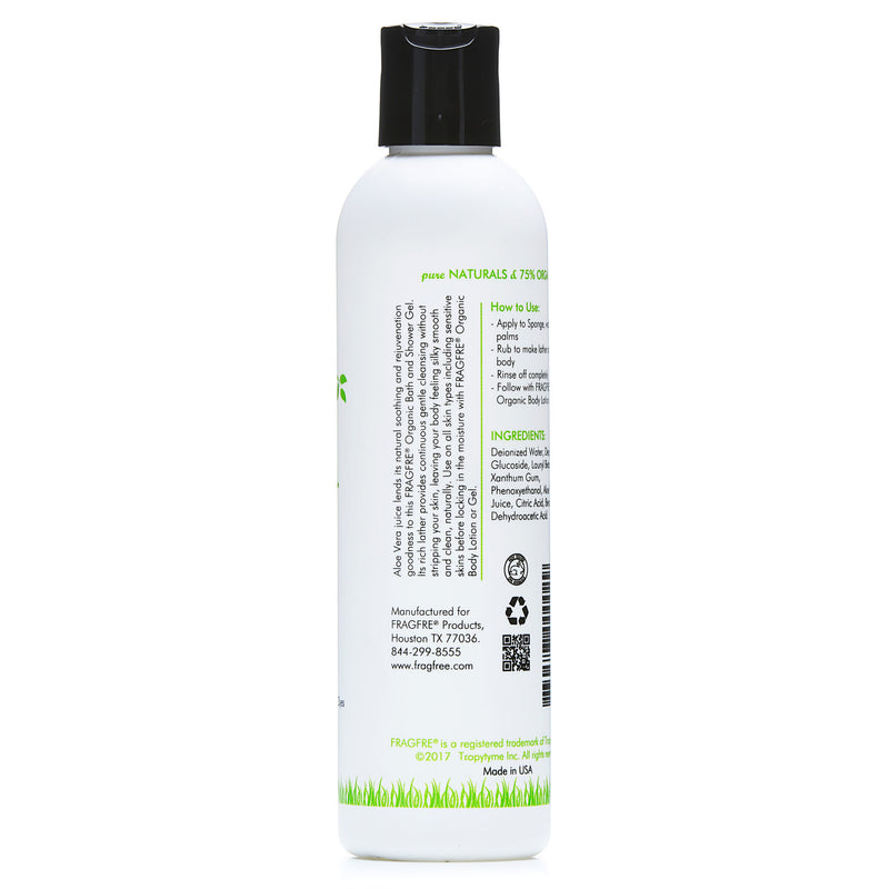 FRAGFRE Organic Shower Gel 8 oz - Fragrance Free Sulfate Free
