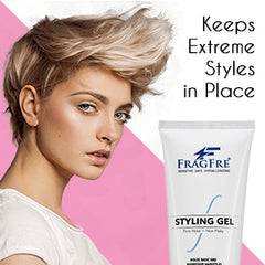 FRAGFRE Firm Hold Hair Gel Fragrance Free (1 oz Sample) - Perfect Travel Size TSA  Compliant