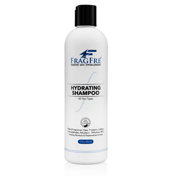 FRAGFRE Hydrating Shampoo 12oz - Hypoallergenic Sulfate Free Shampoo for Sensitive Skin - Vegan Gluten Free Cruelty Free Color Safe - Natural Cucumber