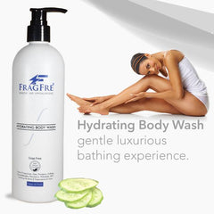 FRAGFRE Hydrating Body Wash for Sensitive Skin 16oz - Sulfate Free Hypoallergenic Body Cleanser - Mild Cucumber Aroma - Vegan Gluten Free Cruelty Free