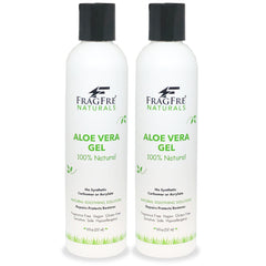 FRAGFRE All-Natural Aloe Vera Gel 8 oz - No Synthetic Carbomer or Acrylate - 100% Natural Aloe Vera Soothing Gel - Fragrance Free Vegan Gluten Free