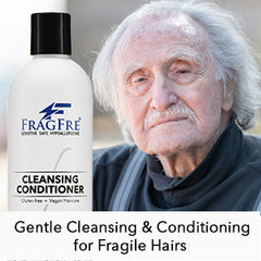 FRAGFRE Cleansing Conditioner for Fine Fragile and Treated Hairs 12 oz - Mild Conditioning Shampoo for Sensitive Skin - Vegan Gluten Free Cruelty Free