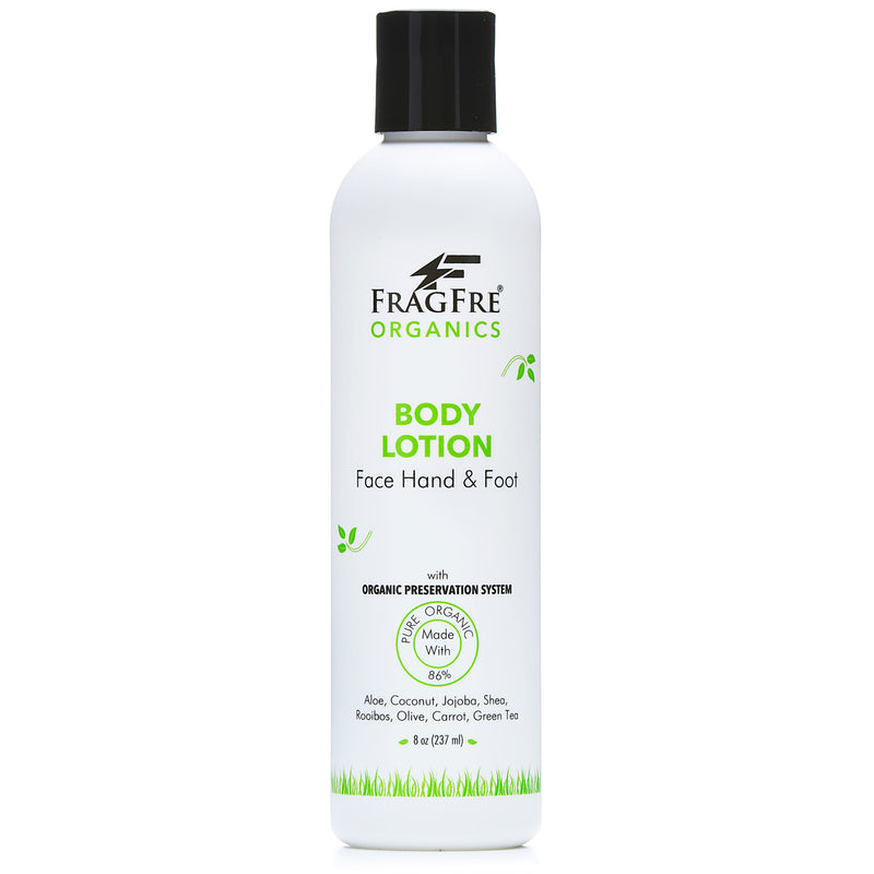 FRAGFRE Organic Body Lotion 8 oz - Naturally Preserved for Men and Women