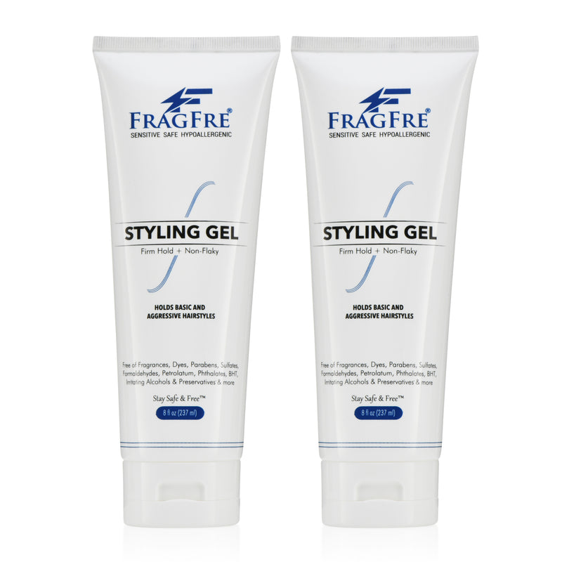 FRAGFRE Firm Hold Hair Gel Fragrance Free 8 oz - Strong Styling Gel for Extreme Hair Styles - Paraben Free Hypoallergenic Sensitive Vegan Gluten Free