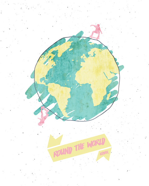 Round The World Art Print