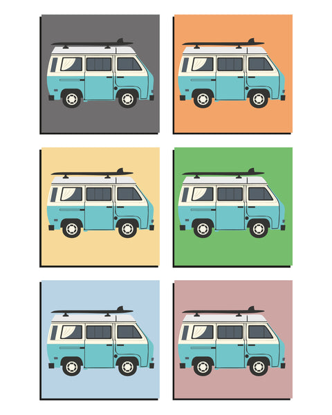 Little Blue Van Art Print