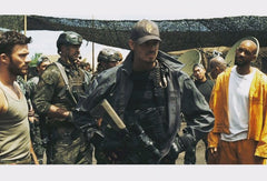 Joel Kinnaman, Will Smith, Scott Eastwood, Kevin Vance on Suicide Squad set