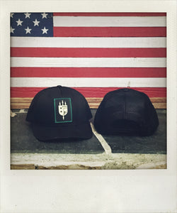 LIMITED EDITION V+B LTD Black Trucker, Black Patch, Green Border