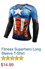 Fitness Superhero Long Sleeve T-Shirt