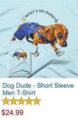 Dog Dude - Short Sleeve Men T-Shirt
