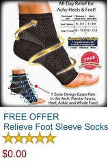 FREE OFFER - Relieve Anti Fatigue Compression Foot Sleeve Socks