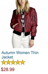 Autumn Women Thin Jacket