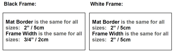 Frame Size - BLACK and WHITE