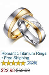 Romantic Titanium Rings