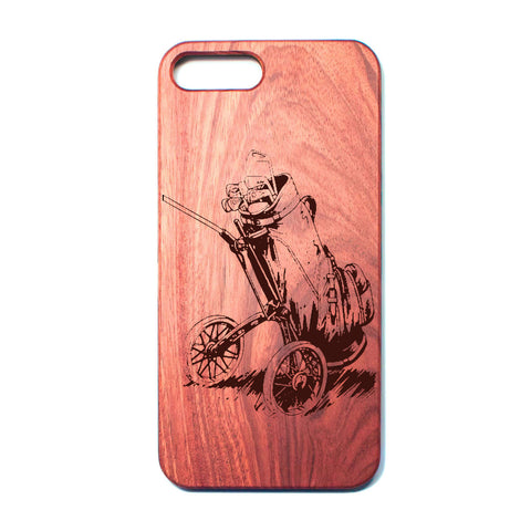 Retro Golf Bag - Rosewood iPhone Case - Design Forms Of Art