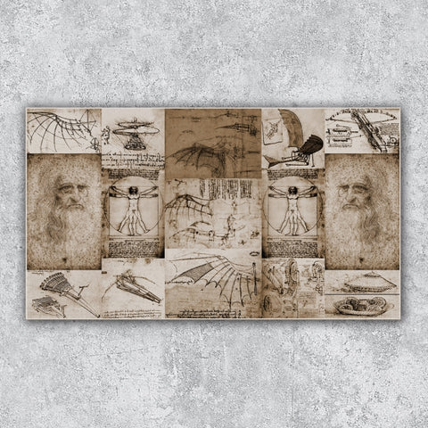 Leonardo Da Vinci Old Photo Poster - Illustration - Design Forms Of Art