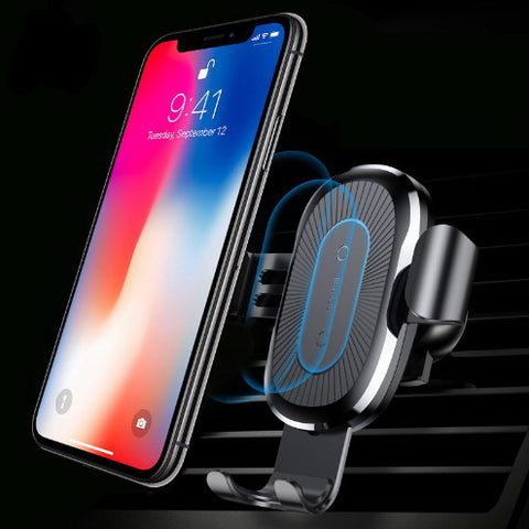 Qi Wireless Car Mount Phone Charger • Free Shipping