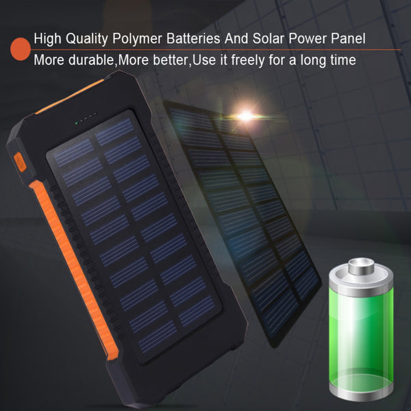 Solar Waterproof Power Bank Charger • Free Shipping