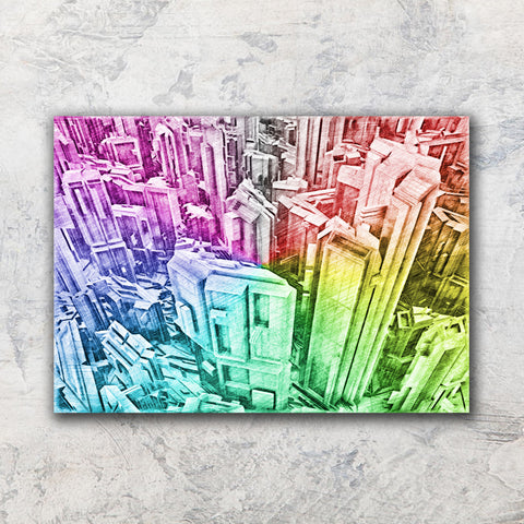 Futuristic Skyscrapers Pencil Drawing - Illustration - Design Forms Of Art