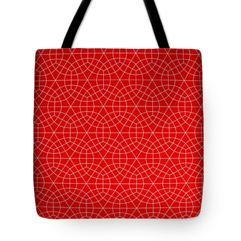 Red Spider-Net - Tote Bag - Design Forms Of Art