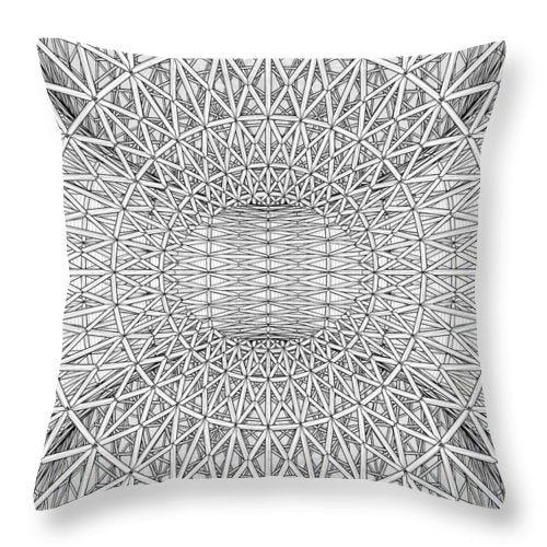Abstract Structural Construction - Throw Pillow - Design Forms Of Art