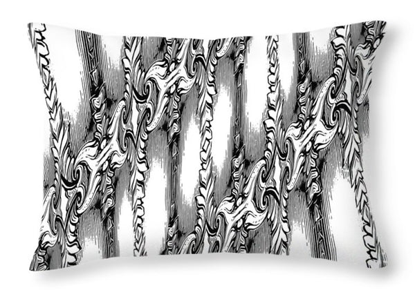Engravingdrawingness - Throw Pillow - Design Forms Of Art