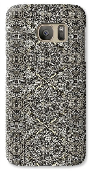 Ornament Engraved On Metal Surface - Phone Case - Design Forms Of Art