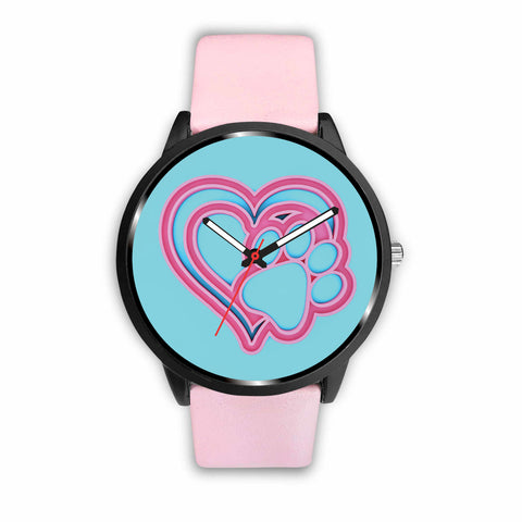 Dog Paw Heart • Custom Art Watch - Design Forms Of Art